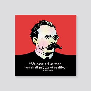 "Nietzsche - Art v. Reality Square Sticker 3"" x 3"""