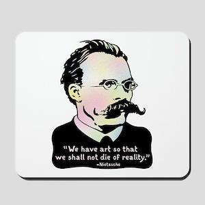 Nietzsche - Art v. Reality Mousepad