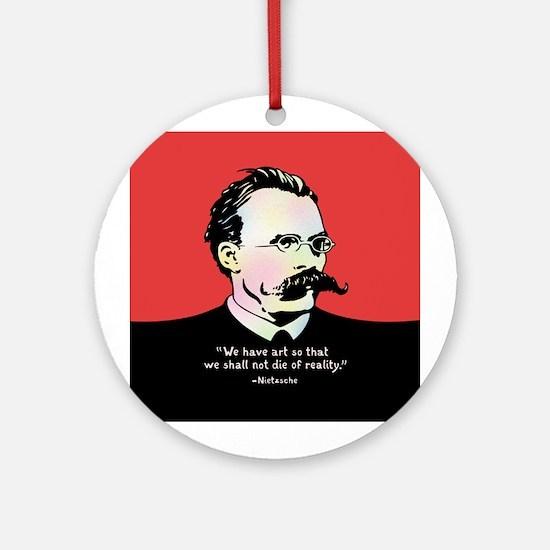 Nietzsche - Art v. Reality Round Ornament