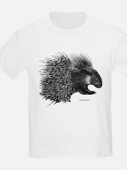 Crested Porcupine Kids T-Shirt