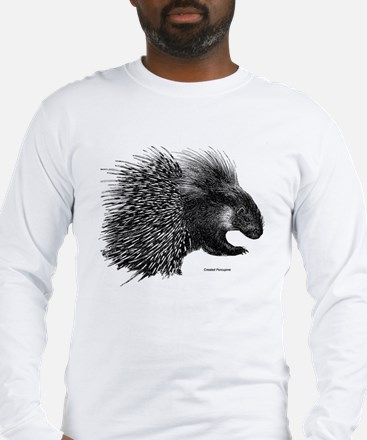 Crested Porcupine Long Sleeve T-Shirt