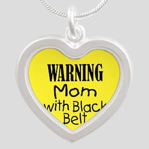 Warning Mom with Black Belt Necklaces