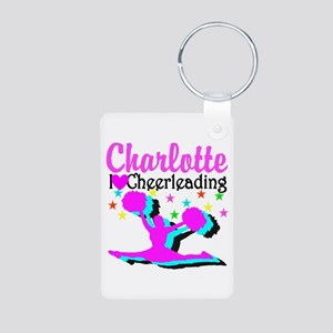 CHEER 4EVER Aluminum Photo Keychain