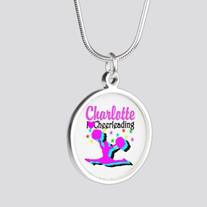 CHEER 4EVER Silver Round Necklace