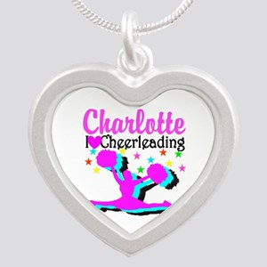 CHEER 4EVER Silver Heart Necklace