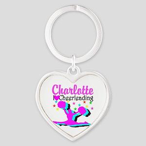 CHEER 4EVER Heart Keychain