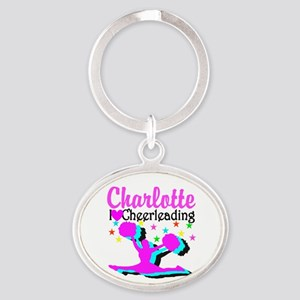 CHEER 4EVER Oval Keychain