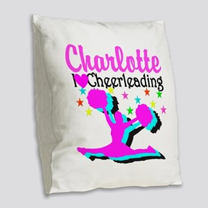 CHEER 4EVER Burlap Throw Pillow