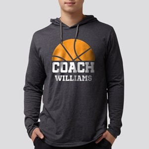 Basketball Personalized Coach Name Long Sleeve T-S