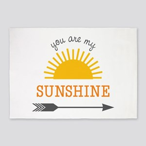 You Are My Sunshine 5'x7'Area Rug