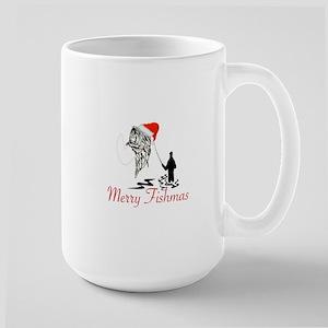 CHRISTMAS - MERRY FISHMAS Large Mug