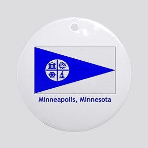 Minneapolis MN Flag Ornament (Round)