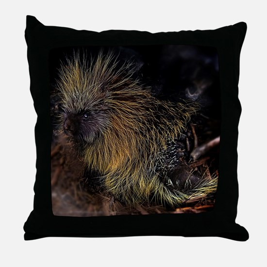 Porcupine! Throw Pillow