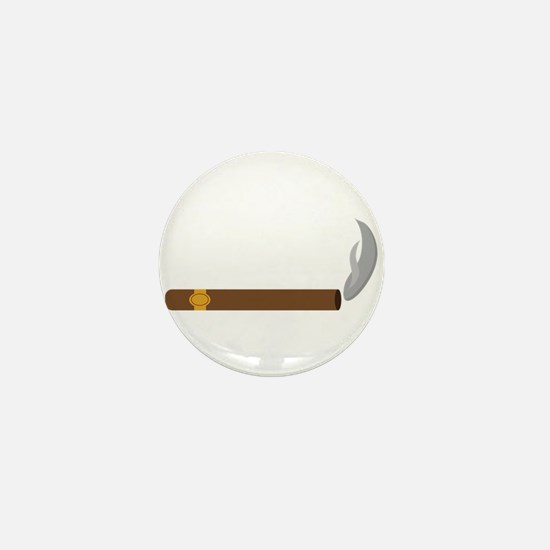 Cigar Smoke Mini Button