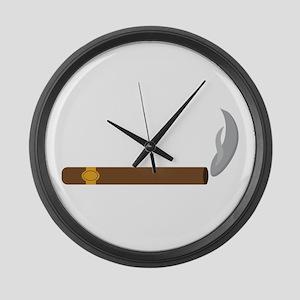 Cigar Smoke Large Wall Clock