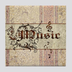 Music the word Tile Coaster