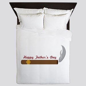 Fathers Day Cigar Queen Duvet