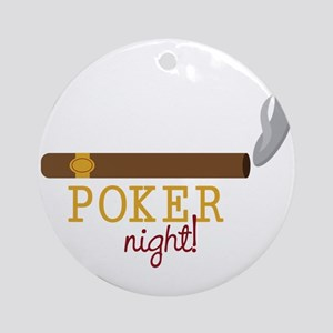 Poker Night Round Ornament