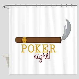 Poker Night Shower Curtain
