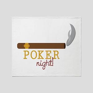 Poker Night Throw Blanket