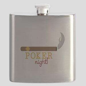 Poker Night Flask