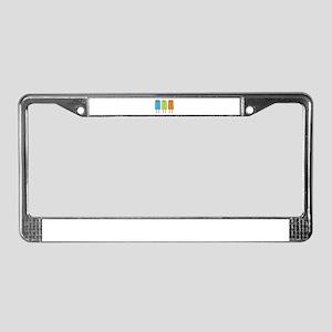 Popsicles License Plate Frame