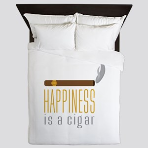 Cigar Happiness Queen Duvet