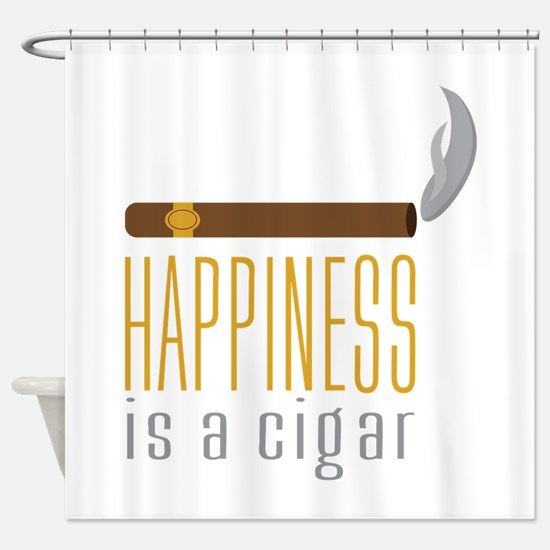 Cigar Happiness Shower Curtain