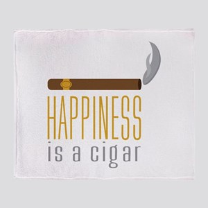 Cigar Happiness Throw Blanket