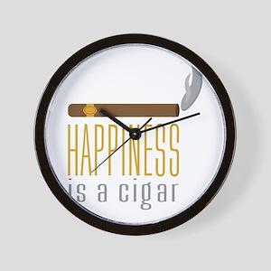 Cigar Happiness Wall Clock