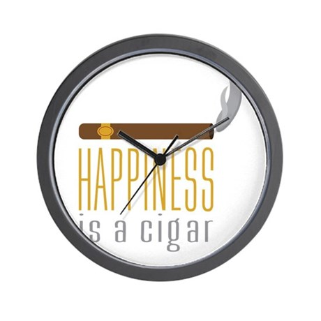 Cigar Happiness Wall Clock