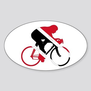 Trinidad and Tobago Cycling Sticker (Oval)