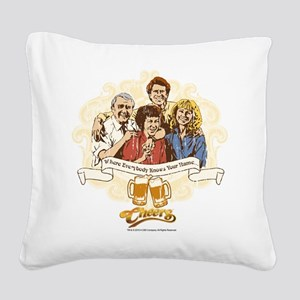 Cheers: Where Everybody Knows Square Canvas Pillow