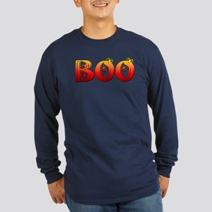 Boo Halloween T-Shirts Long Sleeve Dark T-Shirt