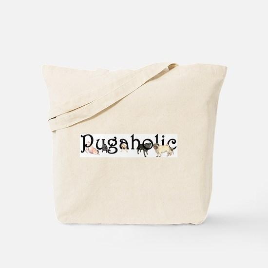 Pugaholic Tote Bag