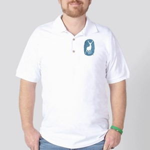 White Stag on Blue Golf Shirt
