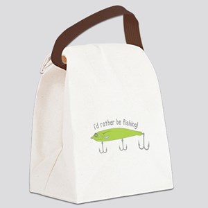 Rather Be Fishing Canvas Lunch Bag