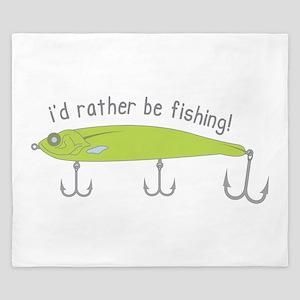 Rather Be Fishing King Duvet