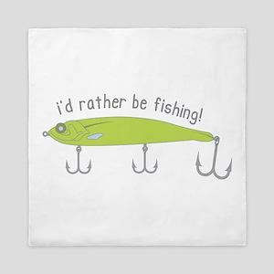 Rather Be Fishing Queen Duvet