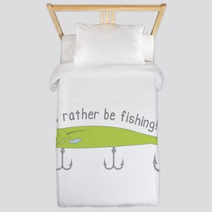 Rather Be Fishing Twin Duvet