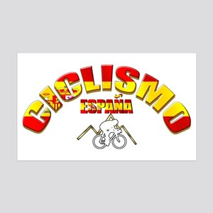 Spain Cycling 35x21 Wall Decal