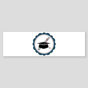 Graduation Cap Bumper Sticker