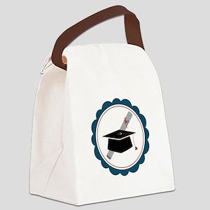 Graduation Cap Canvas Lunch Bag