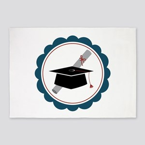 Graduation Cap 5'x7'Area Rug