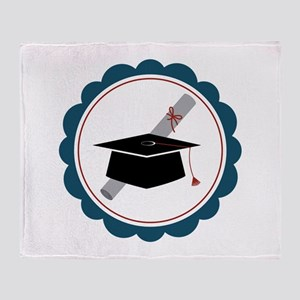 Graduation Cap Throw Blanket