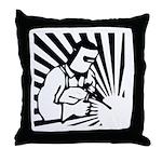 Welding Man Throw Pillow