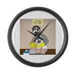 Daddy Diaper Duty Large Wall Clock