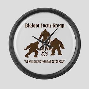 Big Foot Focus Group Large Wall Clock