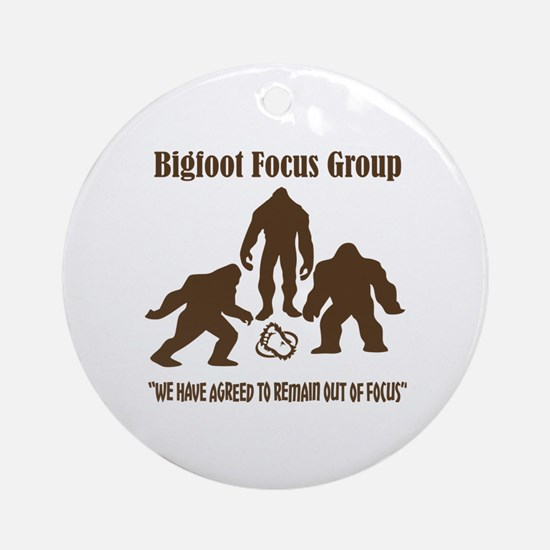 Big Foot Focus Group Round Ornament