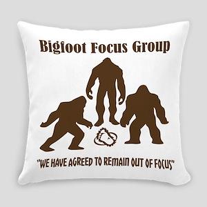 Big Foot Focus Group Everyday Pillow